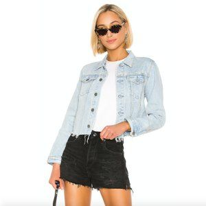 1 DAY SALE! GRLFRND Cara Raw Hem Denim Jacket